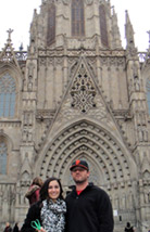 Dr. Gross and her husband in barcelona